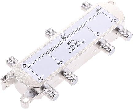 non-brand 6 Vías Splitter 5-1000MHz Señal CATV Splitter ...