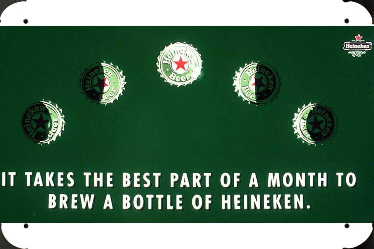 Heineken: MOON metal poster cartel hojalata signo 20x30cm ...
