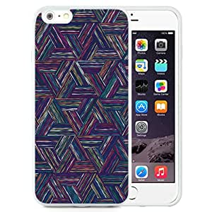 Unique Designed Cover Case For iPhone 6 Plus 5.5 Inch With Triangle Line Color Digital Graphic Art Pattern Wallpaper (2) Phone Case