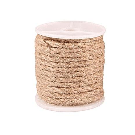 Pawaca Cuerda de Yute Natural Manualidades, Cuerda de Yute Industrial Resistente, Cuerda de Embalaje