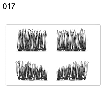 8d9146c0a7b Amazon.com : Fake Eyelashes By gLoaSublim, Magnetic Synthetic Eyelashes  Handmade Long Thick Natural False Lashes Extension - 17# : Beauty