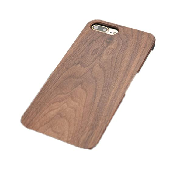Amazon.com: Real Wood Case for iPhone X 8 7 6 6S Plus 5S SE ...