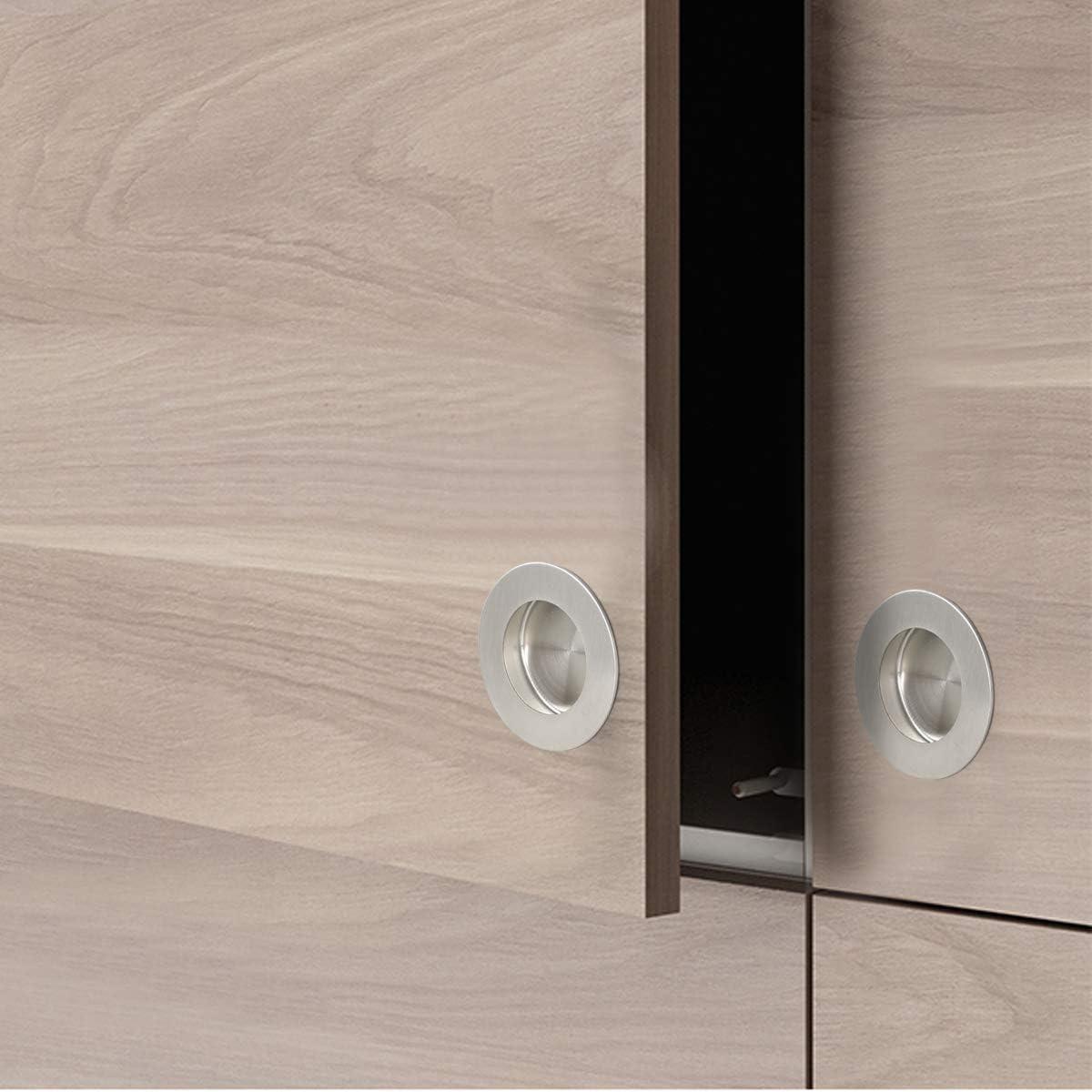 Probrico - Tirador de puerta corredera de acero inoxidable (50 mm, 2 unidades): Amazon.es: Bricolaje y herramientas