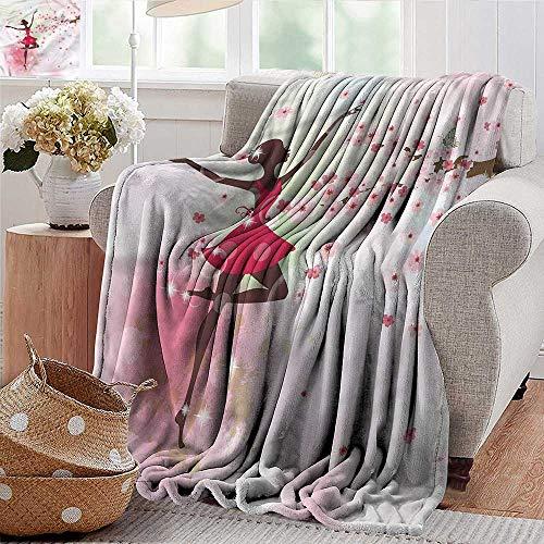 Xaviera Doherty Weighted Blanket Kids,Butterfly Ballerina Dancer Luxury Flannel Throw Blankets for Bed(Lightweight,Super Soft) 35