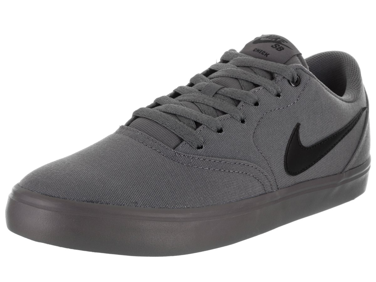 NIKE Men's SB Check Solarsoft Canvas Skateboarding Shoe B0716FGPT9 11.5 D(M) US|Dark Grey Black