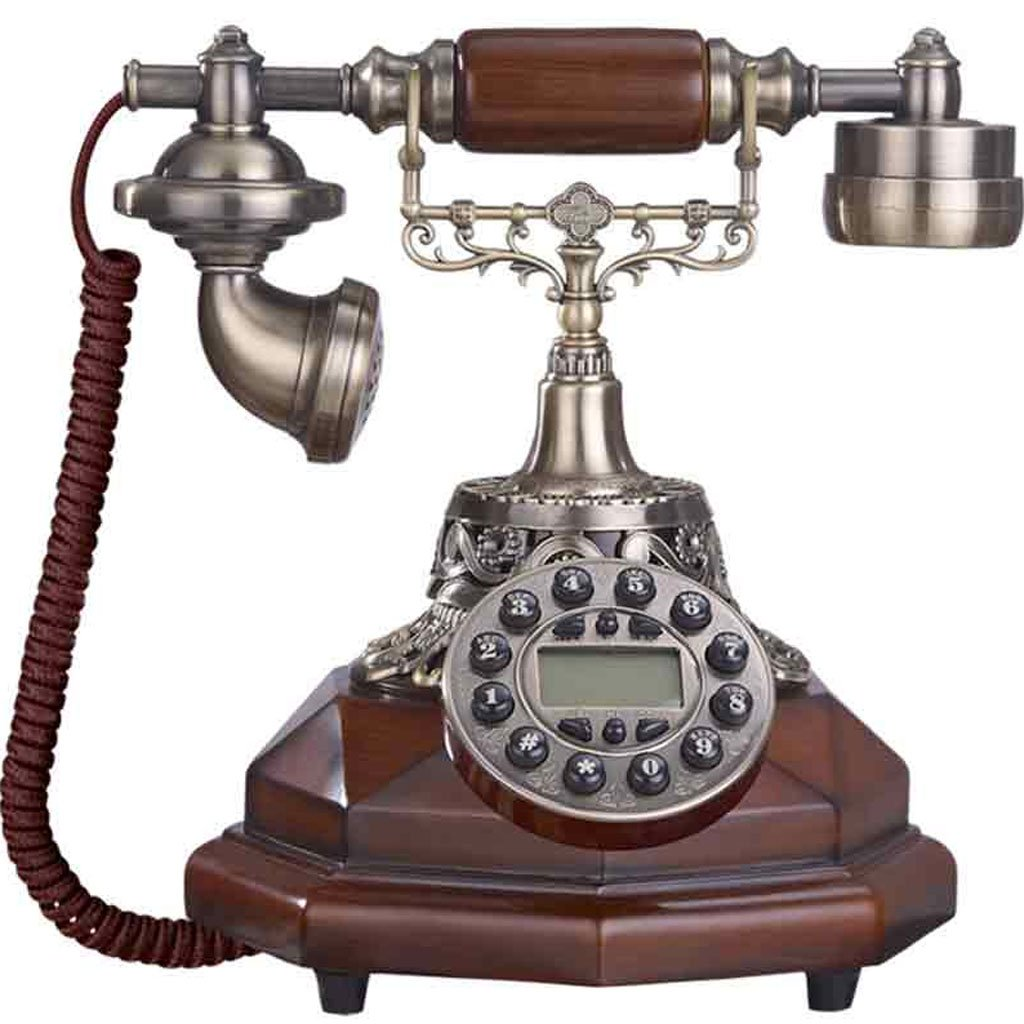 WXL 電話レトロウッドグレイン合金デコレーションホームオフィス電話アンティーククリエイティブランドリー (サイズ さいず : L25CM*H26CM) L25CM*H26CM  B07DVHPHVM