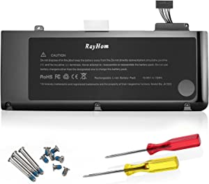 A1322 Battery for Apple MacBook Pro 13 inch A1322 A1278 Battery [2009 2010 2011 2012 Version] 661-5229 661-5557 020-6547-A 020-6765-A [12 Months Warranty 10.95V/63.5Wh]