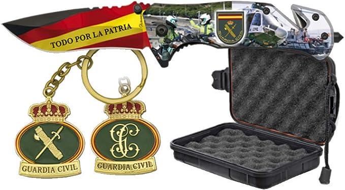 Tiendas LGP Albainox – 33998 – Set Navaja ALBAINOX Guardia Civil – Llavero y Caja ABS Estanca, Herramienta para Caza, Pesca, Camping, Outdoor, Supervivencia y Bushcraft: Amazon.es: Deportes y aire libre