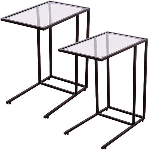 TANGKULA 26″ Sofa Side Table