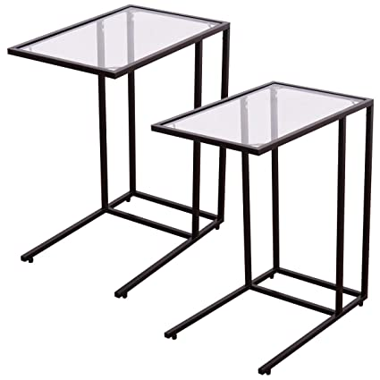 Super Amazon Com Ubrtools 2Pcs Coffee Tray Side Sofa End Table Gmtry Best Dining Table And Chair Ideas Images Gmtryco