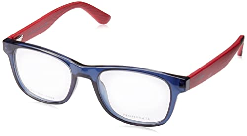 Tommy Hilfiger Brillen Unisex 1314 Wooden Arms X3W, Blue / Red Wood Kunststoffgestell