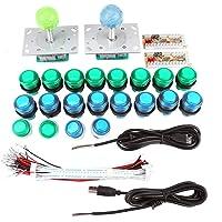DIY Arcade Oyun Parçaları Aydınlatmalı USB Oyun Çubukları ve Düğmeler Oyun Aksesuar Seti