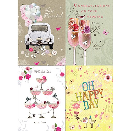 Tree-Free Greetings Perfect Wedding Card Assortment, 5 x 7 Inches, 8 Cards and Envelopes per Set (GA31462)