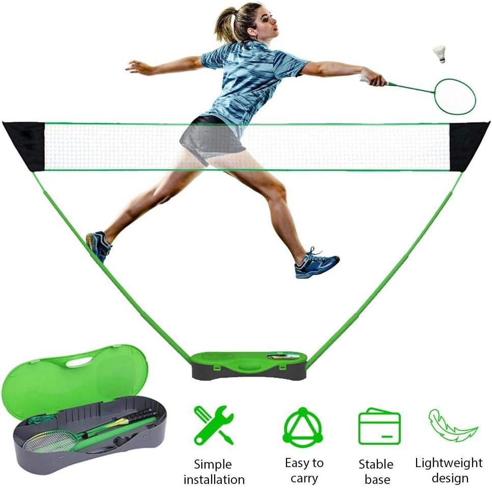 N//T Tragbares Badminton Netz Set Tennisnetz Faltbares Federballnetz Klappbares Outdoor Trainingsnetz Volleyball-Tennisnetz Mit Badmintonschl/ägerst/änder F/ür Den Innenhof Im Freien