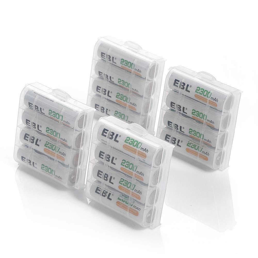 EBL NI-MH AA Akku 2300mAh 16 Stück Mignon Akkubatterien mit hoher Kapazität