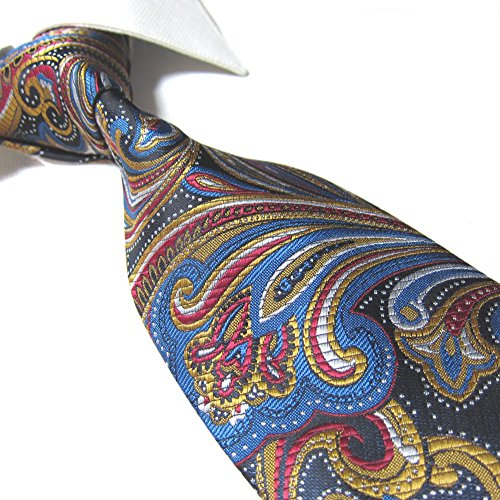 Extra Long Tie Microfibre Paisley Men's Woven Jacquard Handmade Necktie 63