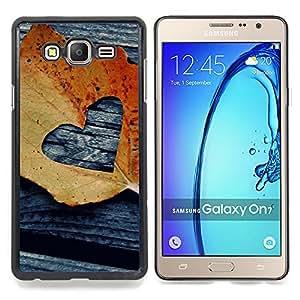 Stuss Case / Funda Carcasa protectora - Hoja Otoño Negro Amor deeo - Samsung Galaxy On7 O7