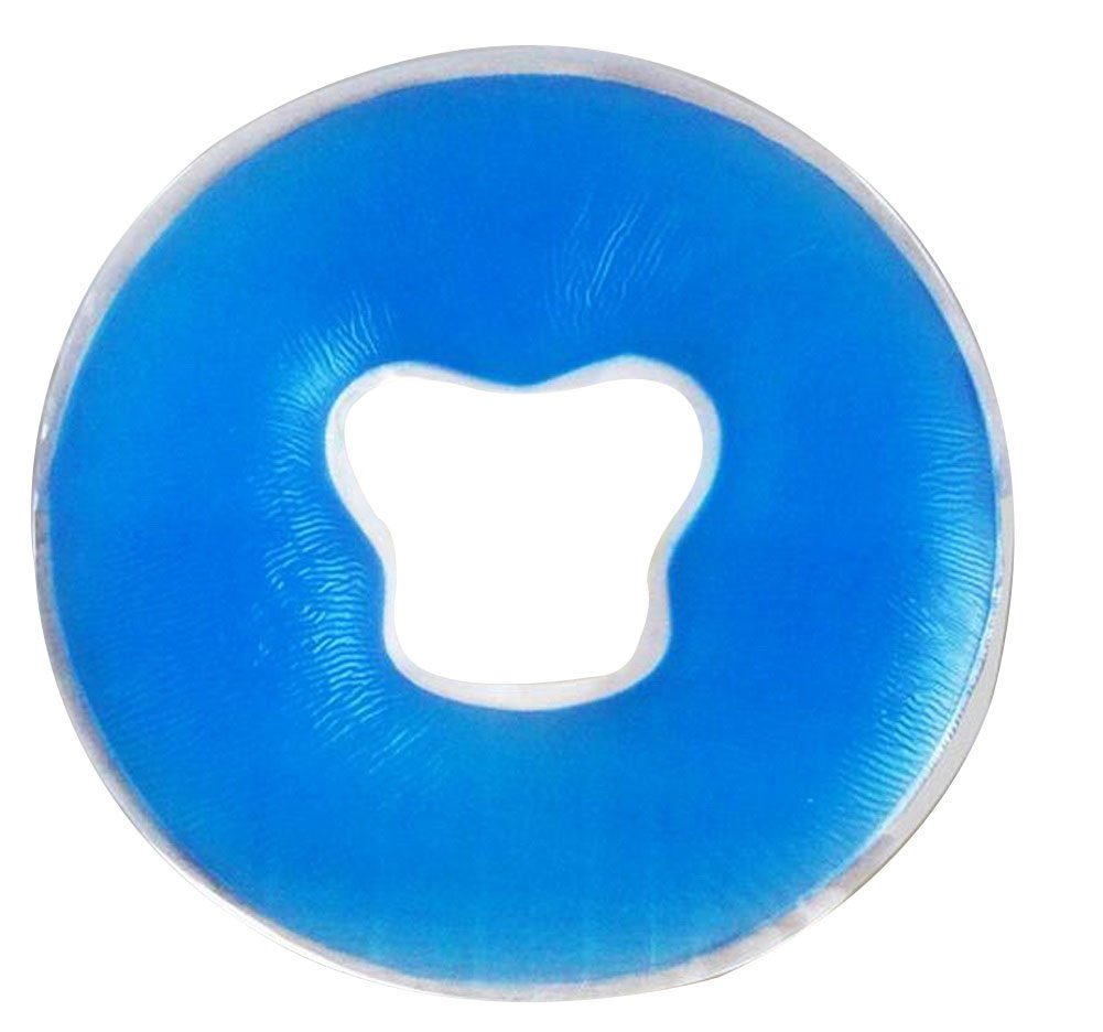 O Type Head Shape Silicone Pillow SPA Pillow Massage Face Pillow [Blue]