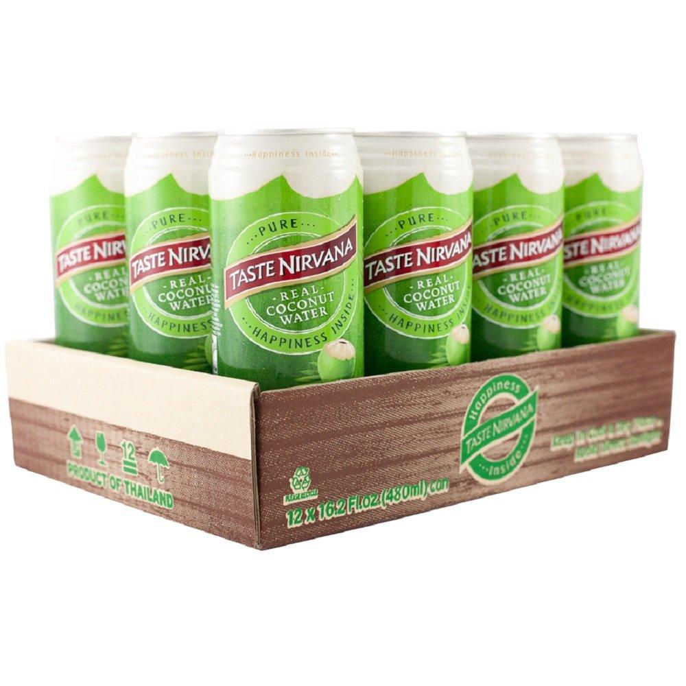 Taste Nirvana Real Coconut Water, Premium Coconut Water, 16.2 Ounce Cans (Pack of 12) by Taste Nirvana (Image #4)