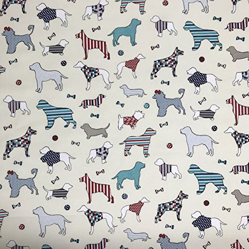 Scottie Dog soft cotton curtain blind fabric material Sold per metre 137cm wide