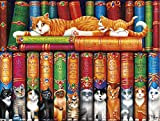 Buffalo Games Cats Collection - Library of Cats - 750 Piece Jigsaw Puzzle