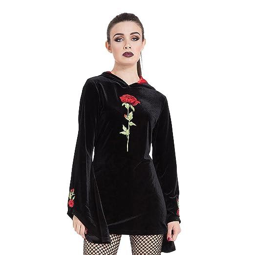 Gothic Kleding.Goth Inspired Black Hoodie With Buckle Dames Kleding Jawbreaker