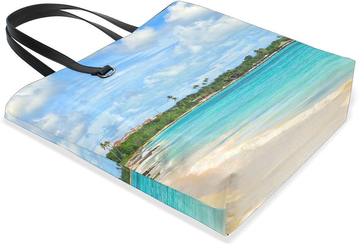 Handbags for Women Palm Tree Beach Sunshine Cloud Blue Sky Tote Shoulder Bag Satchel for Ladies Girls