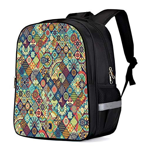 - Classic School Backpack Water Resistant 21L for College Student,Men,Women Vintage Ethnic Checker Plaid School Bag Business/Outdoor/Travel Fits 15Inch Laptop&Notebook