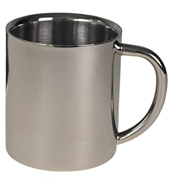 Fox Outdoor - Taza (pared doble, 250 ml, acero inoxidable)
