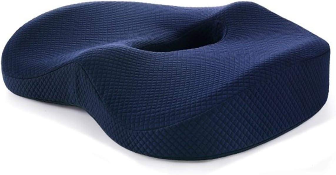 Noeno - Cojín para coxis, soporte lumbar de espuma viscoelástica, para sillas de ruedas, oficina, asiento de coche, ergonómico, ortopédico, antidecúbito, con asa