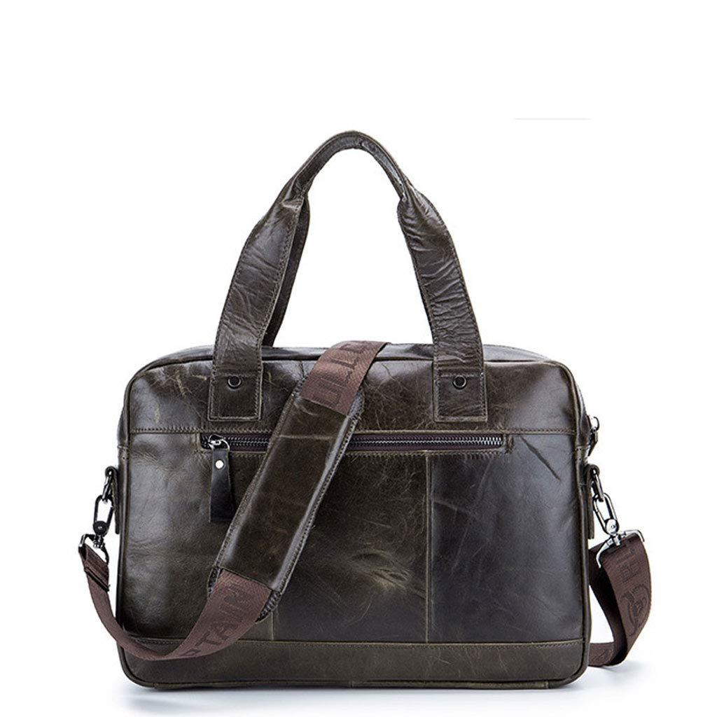 Color : Gray, Size : S Leather Shoulder Diagonal Computer Bag YYYTS Business Briefcase Handbag