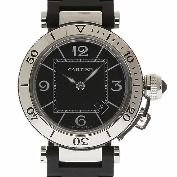 Cartier Pasha Swiss-Quartz Mens Reloj W3140003 (Certificado) de Segunda Mano: Cartier: Amazon.es: Relojes