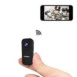 FREDI hidden camera 1080p HD mini wifi camera spy camera wireless camera for iPhone/Android Phone/iPad Remote View with Motion Detection(support 128G SD card)