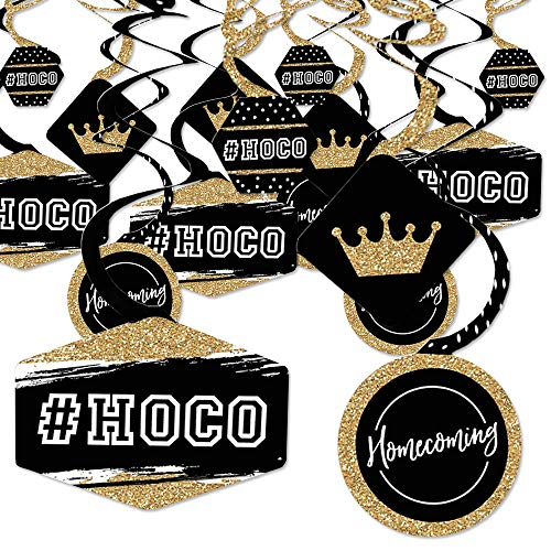 Homecoming Photo Ideas (Big Dot of Happiness Hoco Dance - Homecoming Hanging Decor - Party Decoration Swirls - Set of)