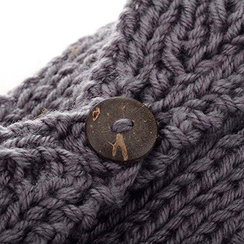 Imixlot Women Lady Crochet Headband Hairband Flower Winter Ear Warmer Elastic Headwrap (Grey)
