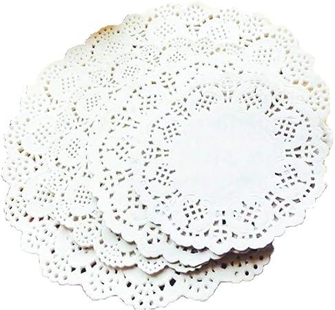 Antique White Doilies 24cm 9.5 ins x 250  Craft Paper Doilies