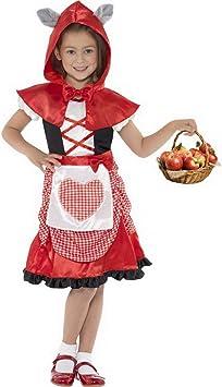 Halloweenia Disfraz de Caperucita Roja para niña, Vestido y Capa ...