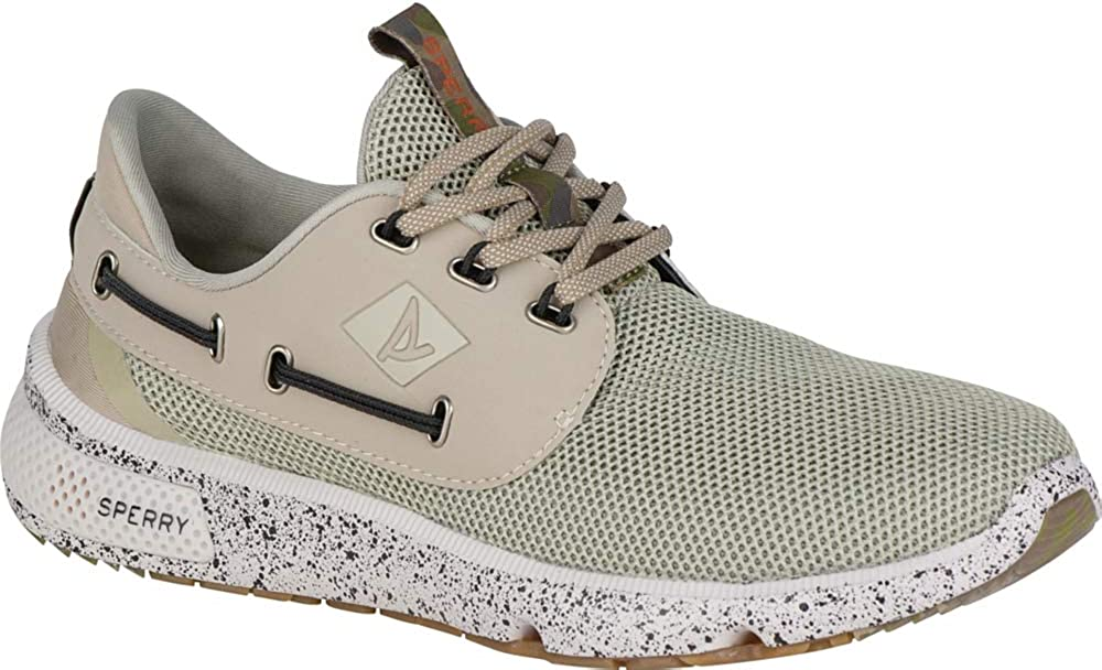 Sperry Men's 7 Seas 3-Eye Boating Shoe White Camo