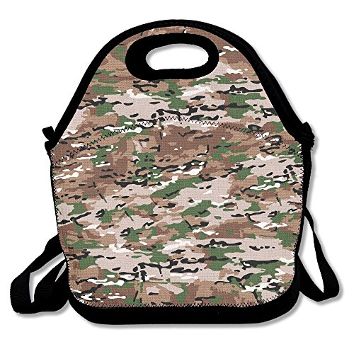 JDE D XKJA Boys Girls Insulated Cute Lunch Bag Camouflage Lunch Box Tote Handbag Food Container Gourmet Tote Cooler Warm Pouch For School Work Office Picnic Travel Polyester Fiber