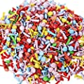 Pengxiaomei 500 Pcs Mini Brads, Metal Brad Paper Fastener for Scrapbooking Craft, Mixed Colors