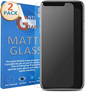SANTAI Compatible with iPhone 11 Pro/XS/X Matte Screen Protector, Anti-Glare and Anti Fingerprint Tempered Glass Screen Protector for iPhone 11Pro/XS