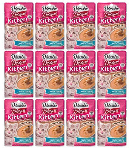 Delectables Bisque Kitten Lickable Wet Cat Treats - Tuna - 12 Pack