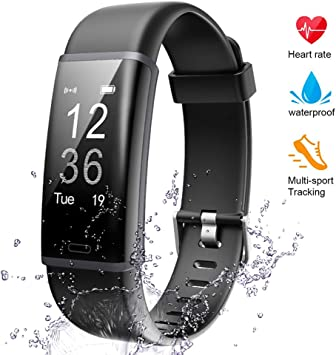 IP67 Waterproof Smart Fitness Band with Step Counter Calorie Counter Lintelek Fitness Tracker with Heart Rate Monitor Activity Tracker with Connected GPS Pedometer for Kids Women and Men