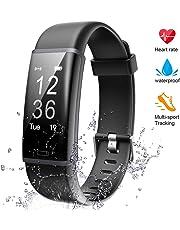 Lintelek Tracker d'Activité Cardiofréquencemètre, Montre Connectée IP67 Etanche Bracelet Sport Podomètre Calorie Smartwatch pour Enfants Femmes Hommes