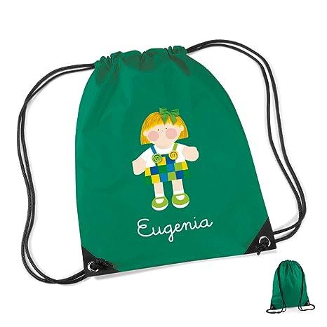 Mochila personalizada bolsa NIÑA CUADRADITOS: Amazon.es
