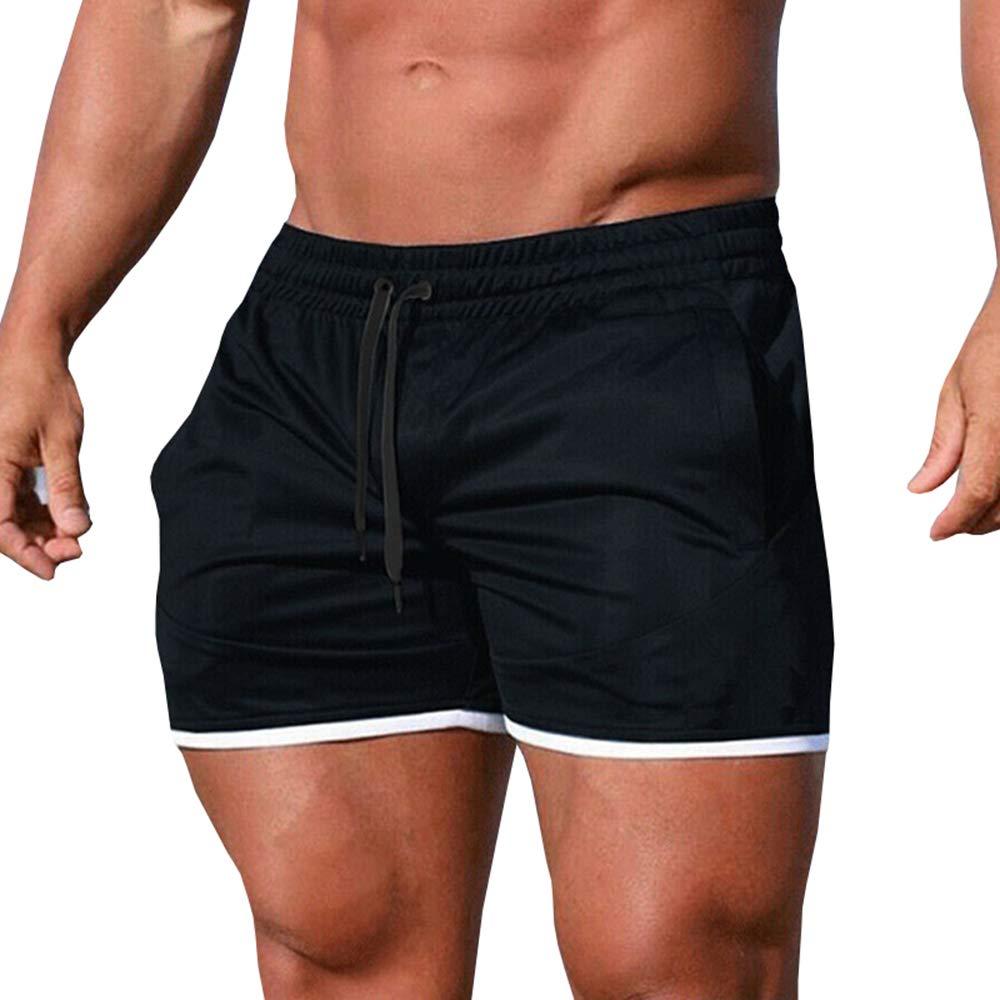 Pibilu Mens Gym Workout Boxing Drawstring Shorts Running Short Pants Fitted Training Bodybuilding Jogger Short
