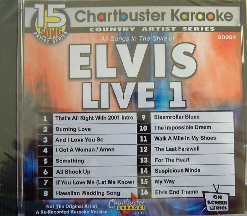Karaoke: Elvis ''Live''  1 by Chartbuster Karaoke