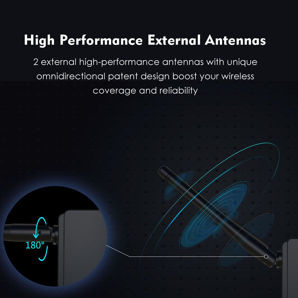 High Power 300Mbps WiFi Range Extender, WAVLINK High Power N300 Wireless WiFi Repeater Signal Booster/Access Point/Router 2 Ethernet Port/External Antenna by WAVLINK (Image #3)