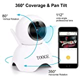TOOGE Pet Camera, Dog Camera FHD Pet Monitor Indoor Cat Camera Night Vision 2 Way Audio and Motion