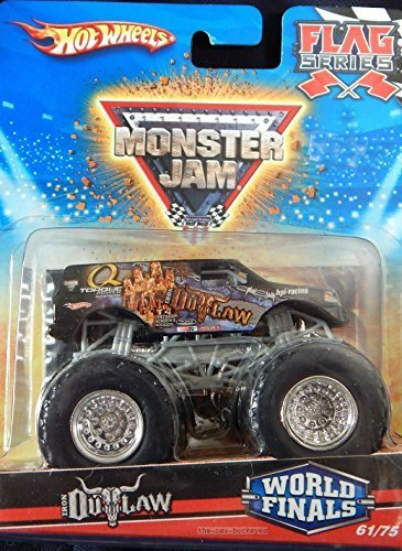 2010 Hot Wheels Monster Jam #61/75 World Finals IRON OUTLAW Flag Series 1:64 Scale Collectible Truck by Mattel